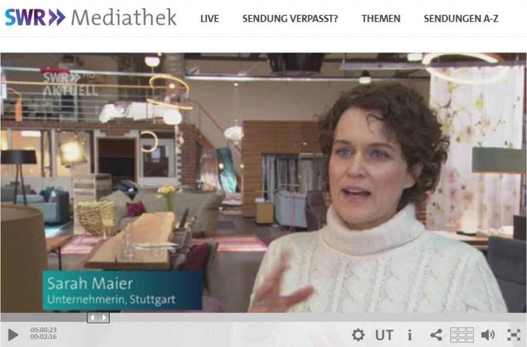 Sarah Maier im SWR